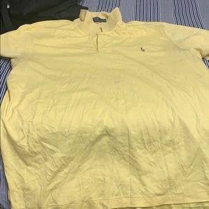 Yellow Polo collar shirt